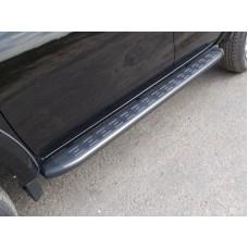 Пороги алюминиевые с пластиковой накладкой (карбон серые) 1820 мм код MITL20015-11GR