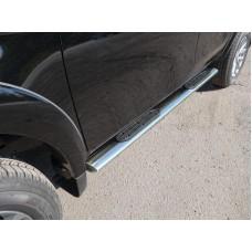 Пороги овальные с накладкой 120х60 мм код MITL20015-08
