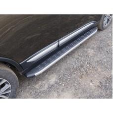 Пороги алюминиевые с пластиковой накладкой (карбон серые) 1720 мм код MITOUT15-17GR