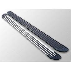 Пороги алюминиевые `Slim Line Black` 1720 мм код MITOUT15-29B