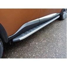 Пороги алюминиевые с пластиковой накладкой (карбон серые) 1820 мм код NISMUR16-19GR