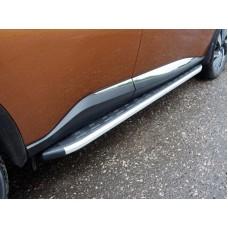 Пороги алюминиевые с пластиковой накладкой 1820 мм код NISMUR16-19AL