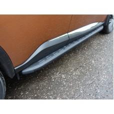 Пороги алюминиевые с пластиковой накладкой (карбон черные) 1820 мм код NISMUR16-19BL
