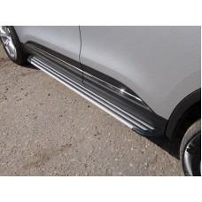 Пороги алюминиевые `Slim Line Silver` 1720 мм код RENKOL17-33В