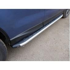 Пороги алюминиевые с пластиковой накладкой 1720 мм код SUBFOR16-06AL