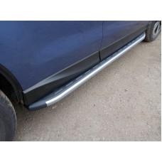 Пороги алюминиевые с пластиковой накладкой (карбон серебро) 1720 мм код SUBFOR16-06SL