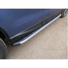Пороги алюминиевые с пластиковой накладкой (карбон серые) 1720 мм код SUBFOR16-06GR
