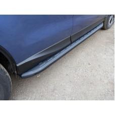 Пороги алюминиевые с пластиковой накладкой (карбон черные) 1720 мм код SUBFOR16-06BL