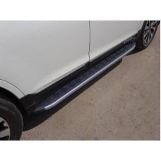 Пороги алюминиевые с пластиковой накладкой (карбон серые) 1820 мм код SUBOUT15-11GR