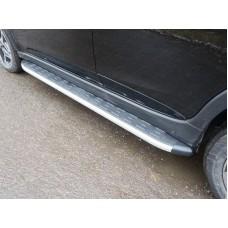 Пороги алюминиевые с пластиковой накладкой 1820 мм код SUBXV17-15AL