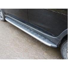 Пороги алюминиевые с пластиковой накладкой (карбон серые) 1820 мм код SUBXV17-15GR