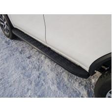 Пороги алюминиевые с пластиковой накладкой (карбон черные) 1820 мм код TOYFORT17-30BL