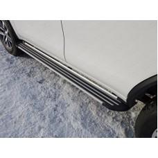 Пороги алюминиевые `Slim line Silver` 1820 мм код TOYFORT17-31S