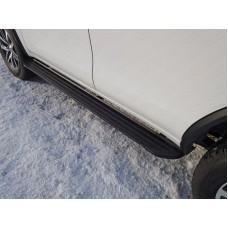 Пороги алюминиевые `Slim line Black` 1820 мм код TOYFORT17-31B