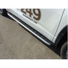 Пороги алюминиевые с пластиковой накладкой 1820 мм код TOYHIGHL17-38AL