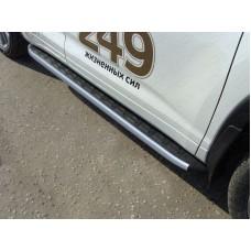 Пороги алюминиевые с пластиковой накладкой (карбон серебро) 1820 мм код TOYHIGHL17-38SL