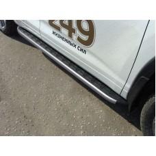 Пороги алюминиевые с пластиковой накладкой (карбон серые) 1820 мм код TOYHIGHL17-38GR