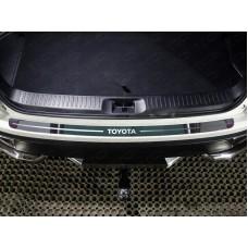 Накладка на задний бампер (лист зеркальный надпись Toyota) код TOYHIGHL17-21