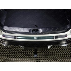 Накладка на задний бампер (лист зеркальный логотип Toyota) код TOYHIGHL17-23
