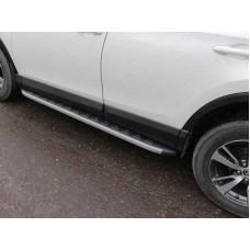 Пороги алюминиевые с пластиковой накладкой (карбон серые) 1720 мм код TOYRAV15-19GR