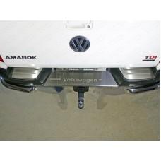 Накладки на задний бампер (лист шлифованный надпись Volkswagen) код VWAMAR17-52