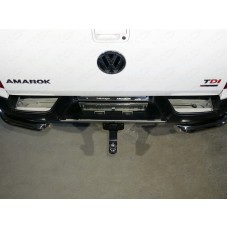 Накладки на задний бампер (лист зеркальный) код VWAMAR17-47
