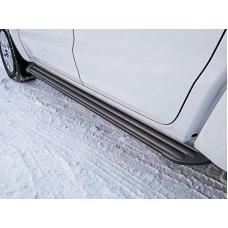 Пороги алюминиевые `Slim Line Black` 1920 мм код VWAMAR17-62B