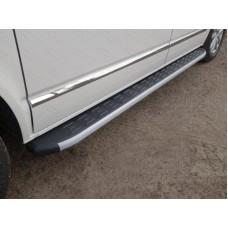 Пороги алюминиевые с пластиковой накладкой 2120 мм код VWMULT15-13AL