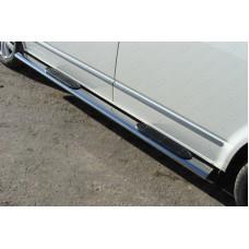 Пороги овальные с накладкой 120х60 мм код VWMULT15-06