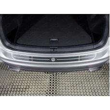Накладка на задний бампер (лист шлифованный логотип VW) код VWTIG17-43