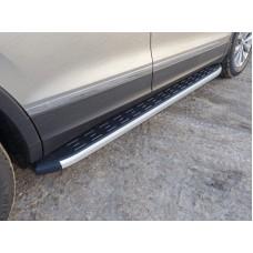 Пороги алюминиевые с пластиковой накладкой 1820 мм код VWTIG17-16AL
