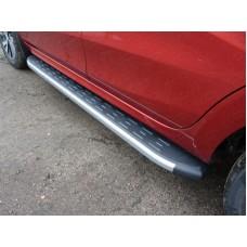 Пороги алюминиевые с пластиковой накладкой (карбон серебро) 1720 мм код LADXRAY16-21SL