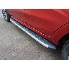 Пороги алюминиевые с пластиковой накладкой (карбон серые) 1720 мм код LADXRAY16-21GR