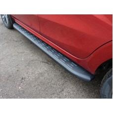 Пороги алюминиевые с пластиковой накладкой (карбон черные) 1720 мм код LADXRAY16-21BL
