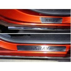 Накладки на пороги (лист шлифованный надпись XRAY) код LADXRAY16-05