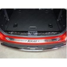 Накладка на задний бампер (лист шлифованный надпись XRAY) код LADXRAY16-09