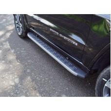 Пороги алюминиевые с пластиковой накладкой (карбон серые) 1820 мм код GRCHER17-23GR