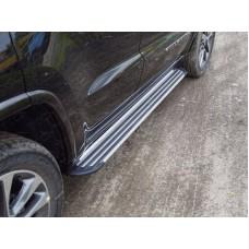 Пороги алюминиевые `Slim Line Silver` 1820 мм код GRCHER17-24S