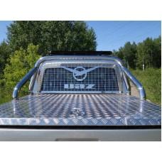 Защита кузова и заднего стекла 76,1 мм со светодиодной фарой код UAZPIC2016-11