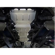 Защиты комплект (алюминий) 4мм (радиатор, картер, кпп, рк, бак) код ZKTCC00240K