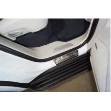 Накладки на пороги (лист зеркальный Porsche) PORSCAY18-05