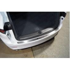 Накладка на задний бампер (лист шлифованный надпись Porsche) PORSCAY18-14