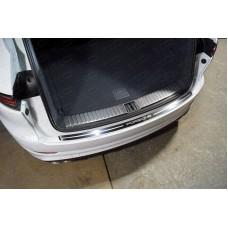 Накладка на задний бампер (лист зеркальный надпись Porsche) PORSCAY18-13