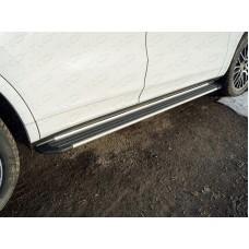 Пороги алюминиевые Slim Line Silver 1920 мм PORSCAY18-02S