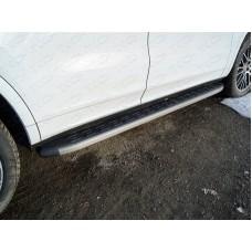 Пороги алюминиевые с пластиковой накладкой (карбон серый) 1920 мм PORSCAY18-01GR
