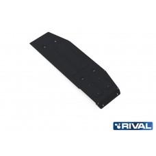 Защита топливного бака + крепеж, RIVAL, Сталь 3 мм, Toyota Hilux 2015-,V - 2.4d; 2.8d; полный привод